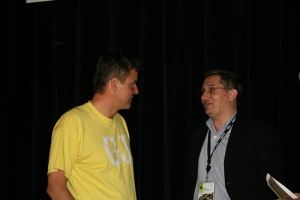 Dr. Horstmann with Martin Odersky after the Scala talk.